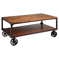 Caster Coffee Table Stein World 12354 Wood And Metal Wheeled Coffee Table