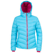 trespass amzie womens warm winter down coat la s hooded jacket