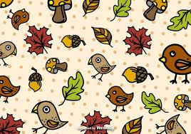 imagenes animadas de otoño vector de patrón de dibujos animados de otoño descargue gráficos y