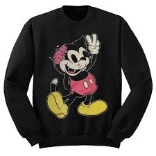 drop ded drop dead mickey mouse sweatshirt stylecotton