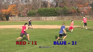 red vs blue backyard football 2nd quarter youtube