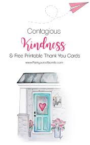 contagious kindness tags u0026 free printable thank you cards paint