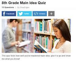 eighth grade language skill builders main idea