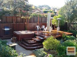 Stone Decks And Patios by Exterior Comfy Outdoor Backyard Garden Wood Deck Design Ideas