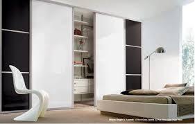 Door Designs For Bedroom by Bedroom Modern Simple Closet Using White Sliding Door And