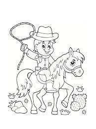 coloriage cowboy 25 modèles à imprimer