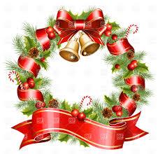 christmas wreath vector clipart image 5370 u2013 rfclipart