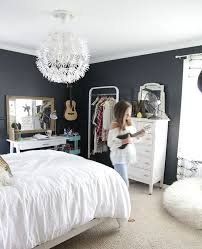 room with black walls teen girl bedroom with black walls