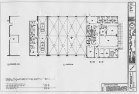 floor plan of the new fire station fire station floor plans and
