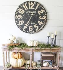 fall table decor fall decor farmhouse style pier1 clock