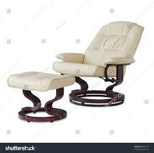Recliner Massage Chairs Leather Reclining Leather Massage Chair Foot Rest Stock Photo 56078137