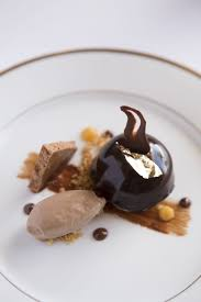 delice cuisine chocolate delice dessert with gold leave ellerman house cuisine