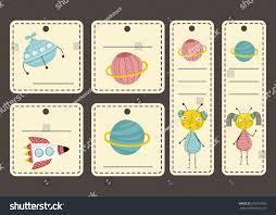 beige price tags space cartoons saturn stock vector 570701896