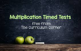 multiplication timed tests the curriculum corner 123