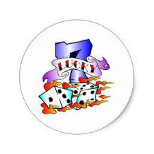 lucky 7 stickers zazzle