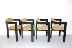 green comfortable dining chairs pamplona by augusto savini 1965