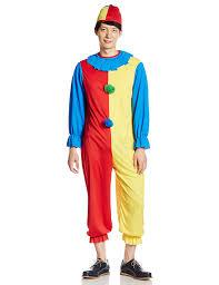 clown jumpsuit amazon com clown costume blue yellow