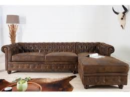 canapé d angle vintage d angle droit capitonné en microfibre vintage chesterfield 280 cm