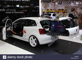 volkswagen hatchback custom vw polo custom shown at the essen motor show in essen germany on