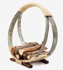 wine barrel hoop firewood rack home decor u0026 lighting o u0027floinn