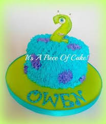 mike from monsters inc cake by little cakes on the prairie