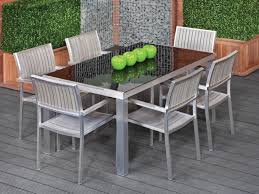 patio 60 glass patio table glass top garden furniture 69vc