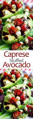 caprese stuffed avocados recette boire du vin tapas et ailes de