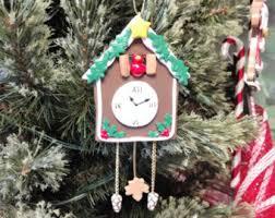 clock ornament etsy