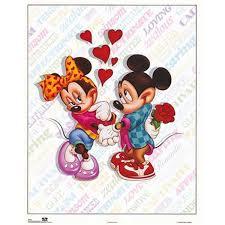 4 disney prints mickey u0026 minnie mouse love play car