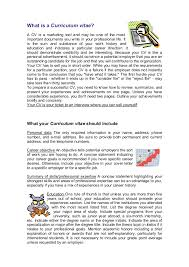 What To Write In The Summary Of A Resume Guide To Writing A Cv