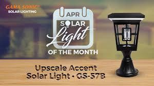 gama sonic solar lights luna solar accent light gs 57b gamasonic solar lighting