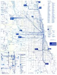 Map Of Blue Line Chicago by Chicago In Maps