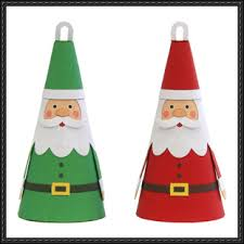 papercraft santa claus tree decoration free