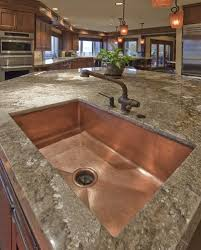 Gallery Marvelous Copper Kitchen Sink Best  Copper Kitchen Sinks - Copper sink kitchen