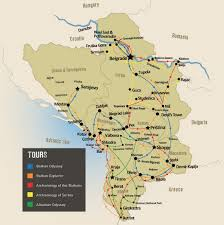 Spirit Route Map by Serbia U0026 The Balkans Tours U0026 Holidays Travel The Unknown