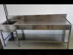 prep table with sink stainless steel work tables food prep tables stainless steel