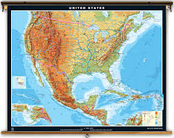 Usa Map With All States by Physical Map Of Us And Mexico At Maps