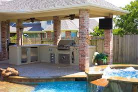 Outdoor Kitchen Ideas On A Budget Your Outdoor Living Space Outdoor Living In Houston Tx And Katy Tx