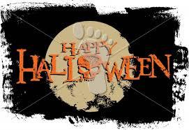 happy halloween grunge skull moon vector graphic stompstock