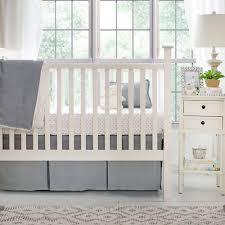 Crib Bedding Separates Gray Linen Crib Skirt Linen Baby Bedding Nursery Skirt