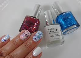 4th of july manicure with pure ice nail polish my highest self