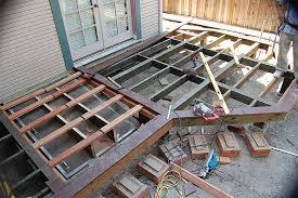 Steel Basement Doors by M U0026m Builders Deck Details