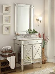 adelina 32 inch mirrored silver bathroom vanity u0026 mirror