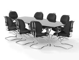 White Boardroom Table Dynamo Boardroom Table In High Gloss 6 To 8 Seater In White