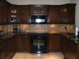 Dark Cabinet Kitchen Designs by Glass Stainless Steel Hanging Rang Hood Dark Kitchen Cabinets And