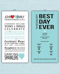 wedding day programs wedding program best day hearts