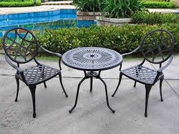 Black Iron Outdoor Furniture by Patio Inspiring Metal Outdoor Tables 12 Metal Outdoor Tables