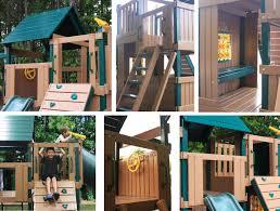 Congo Explorer Tree House Climber Playsystem Green And Cedar Low