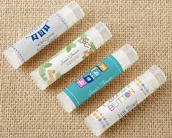 lip balm favors personalized lip balm baby shower set of 12 kate aspen