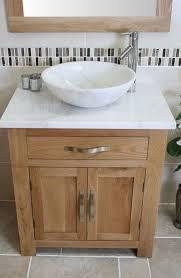 Solid Wood Bathroom Cabinet Solid Oak Bathroom Vanity Unit Basin Floor Cabinets Marble Bowl